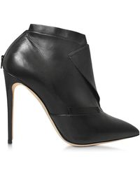 Olgana Paris - Women's Black Leather Ankle Boots - Lyst