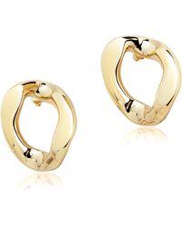 Pluma | Golden Brass Link Earrings | Lyst