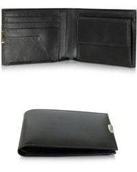 Pineider   1949 Black Leather Men's Wallet W/coin Pocket   Lyst