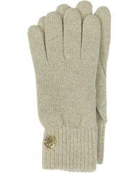 Roberto Cavalli - Golden Rc Logo Cashmere Women's Gloves - Lyst