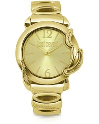 Just Cavalli - Eden - Golden Dial Bracelet Watch - Lyst