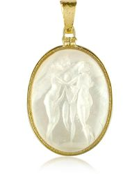 Tagliamonte | Three Graces - 18k Gold Mother Of Pearl Cameo Pendant | Lyst