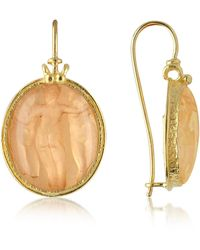 Tagliamonte | Three Graces - 18k Gold Mother Of Pearl Cameo Earrings | Lyst