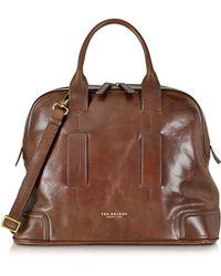 The Bridge - Cosmopolitan Brown Leather Travel Bag - Lyst