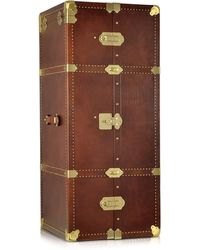 The Bridge - Dark Brown Leather Wardrobe Trunk - Lyst