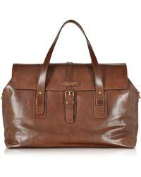 The Bridge - Marcopolo Viaggio Marrone Leather Travel Bag - Lyst