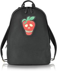 Paul Smith - Men's Black Canvas Backpack W/strawberry Skull Leather Patch - Lyst