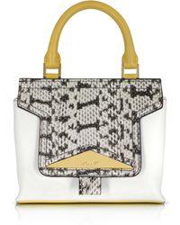 Vionnet - Mosaic 20 Multicolor Leather & Elaphe Mini Satchel Bag W/shoulder Strap - Lyst