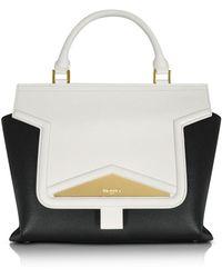 Vionnet - Mosaic 30 Colour Block Leather Medium Satchel Bag W/shoulder Strap - Lyst