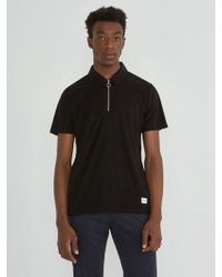 Frank And Oak - Plush Zip Polo - Lyst