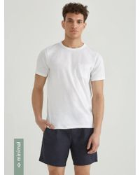 Frank And Oak - Loose Fit Organic Cotton-blend T-shirt In White - Lyst