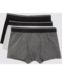 Frank And Oak - 3-pack Cotton Trunks In Multi Neutral - Lyst