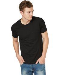 Frank + Oak | Crewneck Pocket T-shirt In Black | Lyst