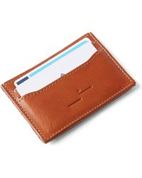 Frank And Oak - Leather Card Holder In Cognac - Lyst