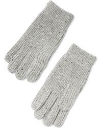 Frank + Oak - Donegal Tweed Knit Gloves In Grey - Lyst