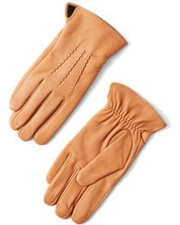 Frank + Oak - Deerskin Gloves In Tan - Lyst