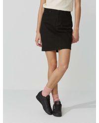 Frank And Oak - Denim Mini-skirt In True Black - Lyst