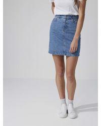 Frank And Oak - Denim Mini-skirt In Light Denim - Lyst