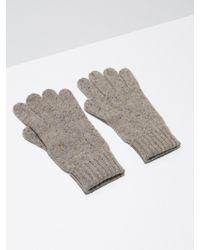 Frank And Oak - Donegal-wool Knit Gloves In Oatmeal - Lyst