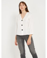 Frank And Oak - Big Sleeve ® Blouse - Snow White - Lyst