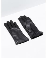 Frank And Oak - Black Leather Gloves - Lyst