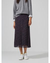 Frank And Oak - Pleated Chiffon Skirt In Graphite - Lyst