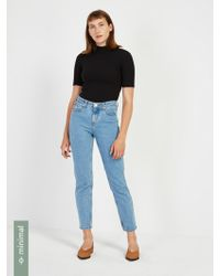 Frank And Oak - The Stevie High Waisted Non-stretch Jean - Light Indigo - Lyst