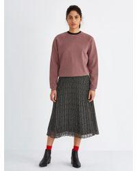 Frank And Oak   Pleated Printed Chiffon Skirt In True Black   Lyst