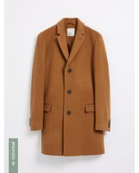 Frank And Oak - The Lawrence Recycled-wool-blend Topcoat - Camel - Lyst