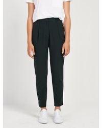 Frank And Oak - The Grant Pleated Pant In Dark Green - Lyst
