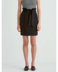 Frank And Oak - Paper Bag Skirt In True Black - Lyst