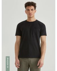 Frank And Oak - Loose Fit Organic Cotton-blend T-shirt In Black - Lyst