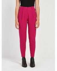 Frank And Oak - The Grant Pleated Pant In Fuchsia - Lyst