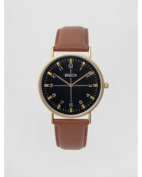 Frank And Oak | Breda Watch - Belmont In Gold/brown | Lyst