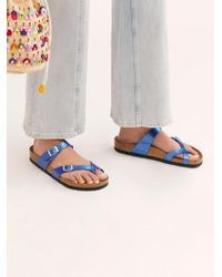 Free People - Mayari Electric Metallic Birkenstock Sandal - Lyst
