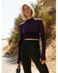 Free People - Triumph Stripe Polo Neck By Fp Movement - Lyst