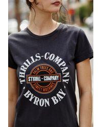 556d7398e Forever 21 Women's Thrills Graphic Tee Shirt - Lyst