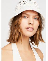 Free People - Quinn Crochet Straw Bucket Hat - Lyst