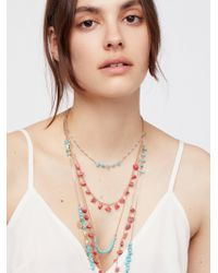 Free People - Seaside Cove Stone Necklace - Lyst