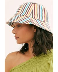 Free People - Stripe Throwback Bucket Hat - Lyst
