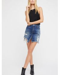Free People - We The Free Relaxed & Destroyed Skirt - Lyst