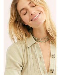 Free People - Secrets Stone Necklace - Lyst