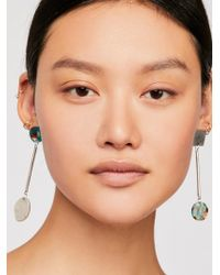 Free People - Moon Pendulum Earrings - Lyst