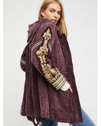 Free People - Golden Quills Military Parka - Lyst