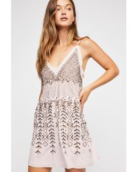 bdd7dc64f899f Free People - Arizona Nights Embellished Slip By Intimately - Chemise - Lyst
