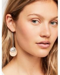 Free People - Wood Pendulum Earrings - Lyst
