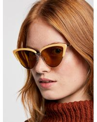 Free People - Cedar Cat Eye Sunglasses - Lyst
