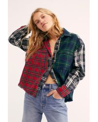 Free People - Plaid State Of Mind Buttondown - Lyst