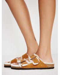Free People - Arizona Shearling Birkenstock Sandal - Lyst