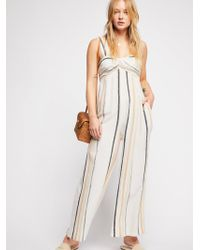 Free People - Breezin' Through Striped One Piece - Lyst
